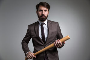 Gary Dumais businessman with bat